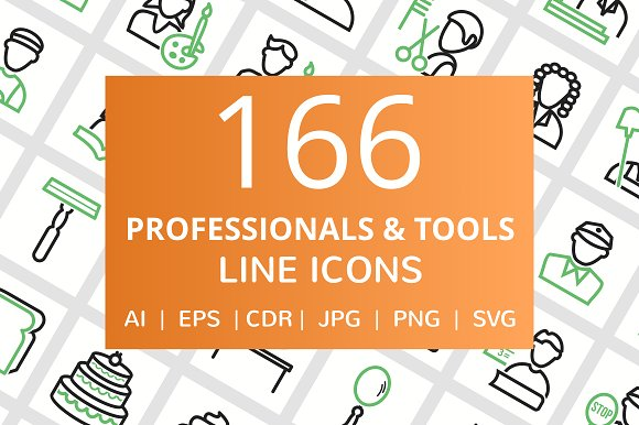 166 Professionals Their Tools Line