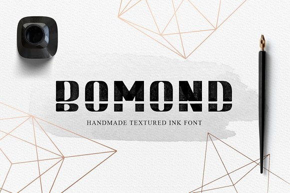 BOMOND Textured Ink Font