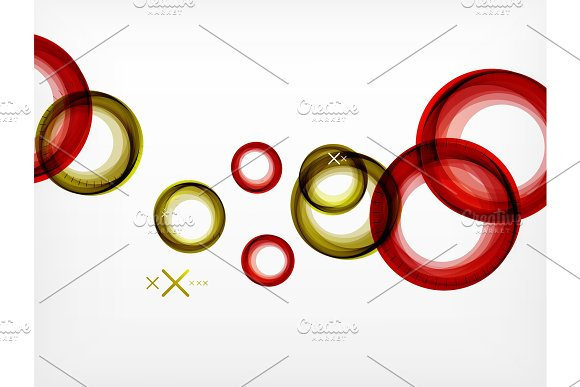 Flying Abstract Circles Vector Geometric Background Color Air Bubbles Web Banner Template Business Or Technology Presentation Background Or Elements