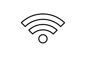 Wi-Fi line icon. vector illustration
