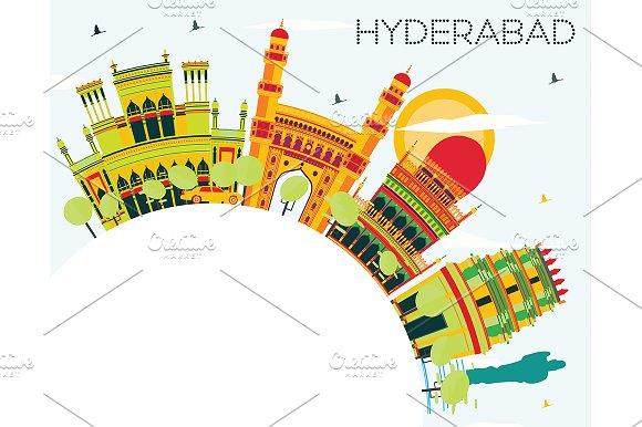 Hyderabad City Skyline