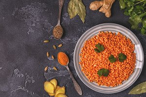 Lentils with spices