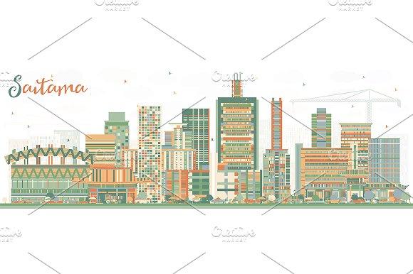 Saitama Japan City Skyline