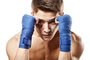 Young male fighter