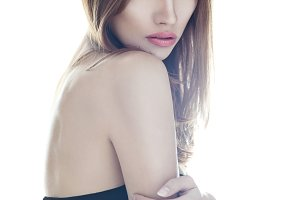 sensual very beautiful woman