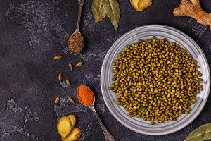 Mung beans with spices
