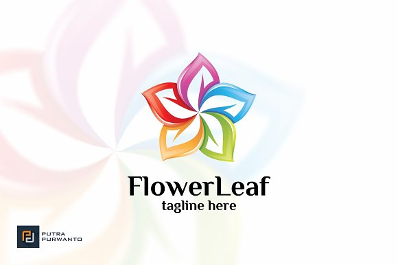 Flower Leaf Logo Template