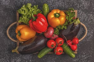 Set of vegetables for cooking