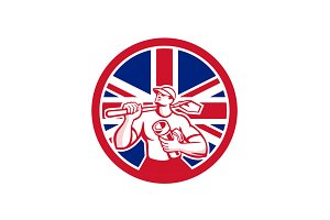 British Drainlayer Union Jack Flag I