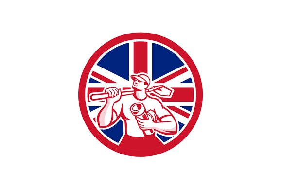 British Drainlayer Union Jack Flag I
