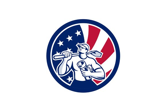 American Drainlayer USA Flag Icon