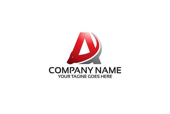 Letter A Bull Logo Template