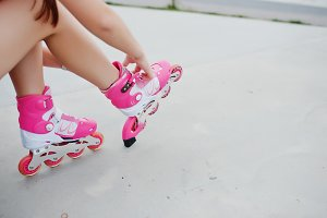 Girl in roller skates