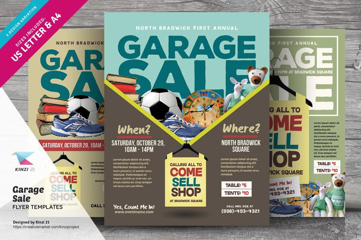 garage sale flyer templates flyer templates creative market