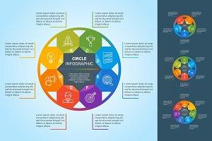 Circle infographics set.