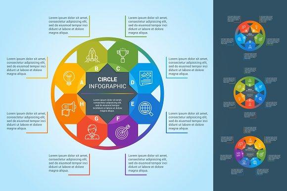 Circle Infographics Set