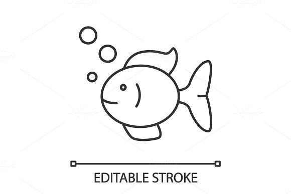 Aquarium Fish Linear Icon