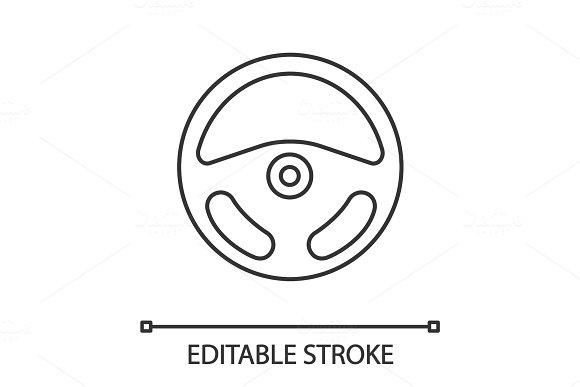 Car Rudder Linear Icon