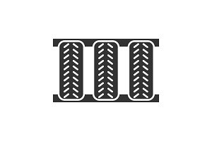 Car tires glyph icon
