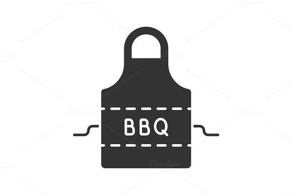 Barbecue Apron Glyph Icon