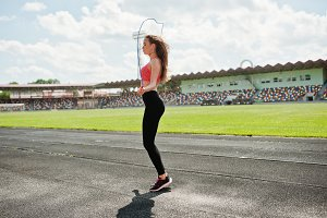 Fitness sporty girl in sportswear