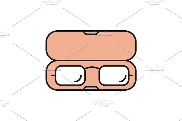 Eyeglasses Case Color Icon