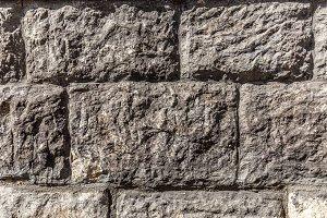 Stones block wall