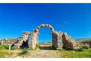 Tingis Gate at Volubilis, a UNESCO world heritage site in Morocco