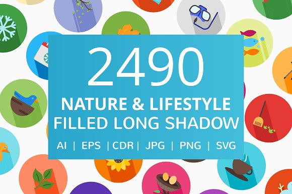 2490 Nature Lifestyle Flat Icons