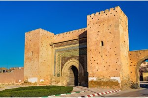 Bni Mhammed Gate in Meknes, Morocco