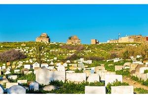 Muslim cemetery in Meknes, Morocco