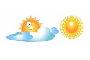 vector set sun