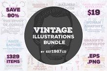 Vintage Vector Illustrations Bundle