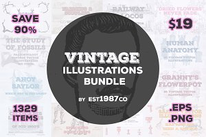 Vintage Vector Illustrations Bundle