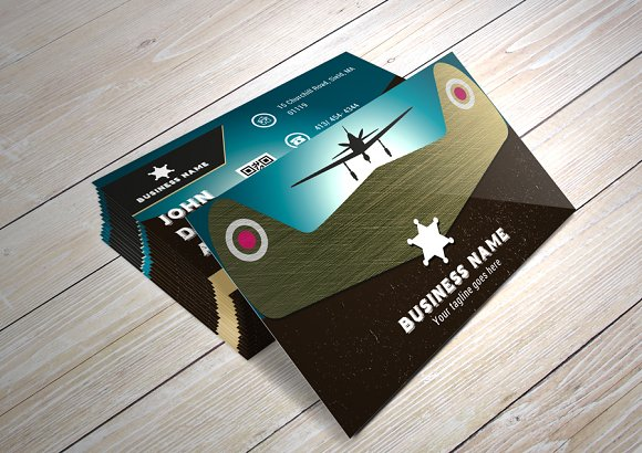 Vintage B.Card/ the Air Conqueror - Business Cards