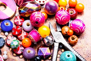 Making jewelry of beads