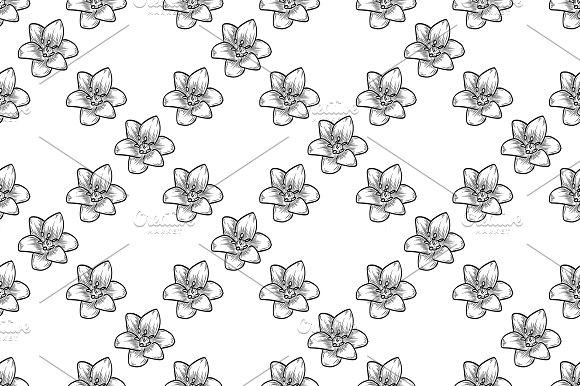 Vector Bluebells Seamless Pattern