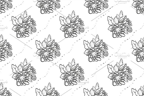 Vector Bouquet Of Chrysanthemum