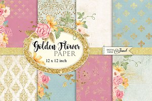 Golden Flower Paper
