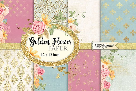 Golden Flower Paper