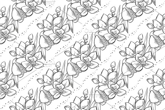 Vector Bouquet Of Orchid Flowers