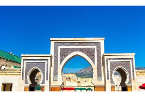 New Rcif Gate in Medina of Fes, Morocco