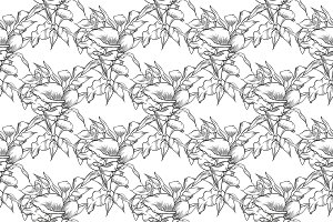 Vector callas seamless pattern