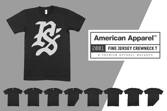 Download American Apparel 2001 Shirt Mockups