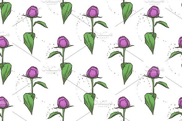 Pattern Of Peony Flowers