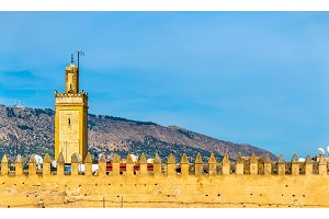 Old city walls of Fes, Morocco