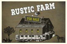 Rustic Farm Vector & PNG Elements