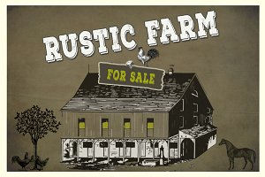Rustic Farm Vector & PNG Elements