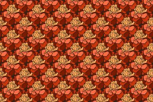 pattern of marigold flowers