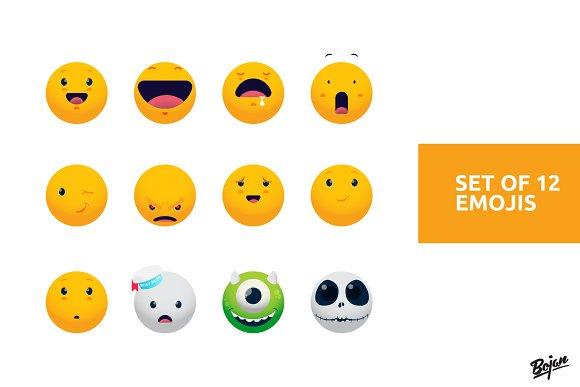 Set Of 12 Emojis